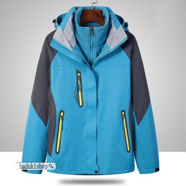 スノーボードウェア スキーウェア マウンテンジャケット 登山用 アウトドア ジャケット 防風 防寒 メンズ レディース 大きいサイズ 2点セット hadukishop 12