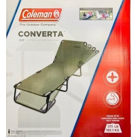 送料無料 コールマン コンバータ コットラウンジャー 折りたたみチェア ブラウン Colemen キャンプ アウトドア チェア|hafaadaimall