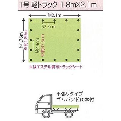 PPソフト トラックシート 1号 1.8mX2.1m グリーン hagihara-e 03