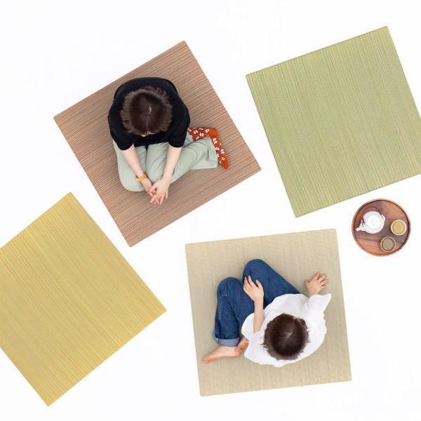 畳 置き畳 ユニット畳 い草 82×82×2.5cm (1枚) 半畳 DIY カット可能 おしゃれ 可愛い 軽量 琉球畳風 無料サンプルあり 彩 いろどり hagihara6011 16