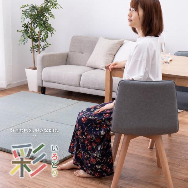 畳 置き畳 ユニット畳 い草 82×82×2.5cm (1枚) 半畳 DIY カット可能 おしゃれ 可愛い 軽量 琉球畳風 無料サンプルあり 彩 いろどり hagihara6011 17