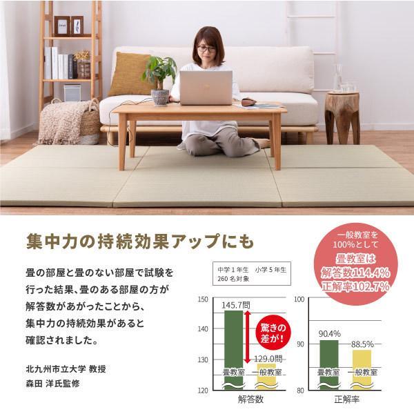 畳 置き畳 ユニット畳 い草 82×82×2.5cm (1枚) 半畳 DIY カット可能 おしゃれ 可愛い 軽量 琉球畳風 無料サンプルあり 彩 いろどり hagihara6011 06