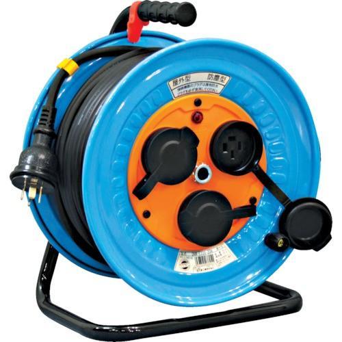 日動工業:日動 電工ドラム 防雨防塵型三相200V 3.5sq電線アース付 30m DNW-E330F-20A 型式:DNW-E330F-20A