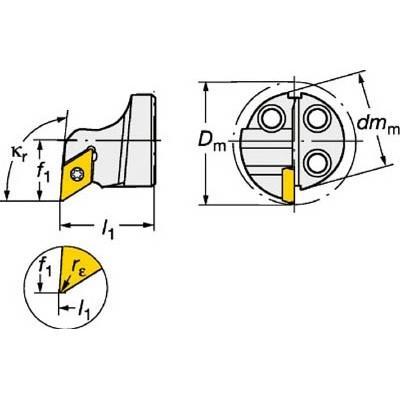 サンドビック:サンドビック コロターンSL コロターン111用カッティングヘッド 570-SDUPL-16-07 型式:570-SDUPL-16-07