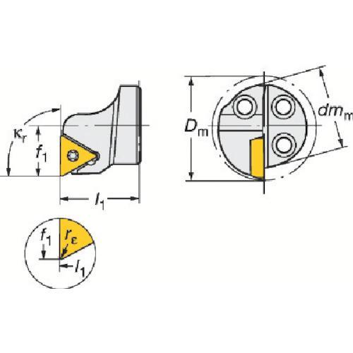 サンドビック:サンドビック コロターンSL コロターン111用カッティングヘッド 570-STFPL-20-11 型式:570-STFPL-20-11