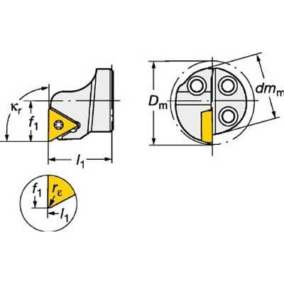 サンドビック:サンドビック コロターンSL コロターン111用カッティングヘッド 570-STFPR-16-11 型式:570-STFPR-16-11