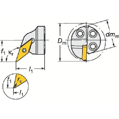 サンドビック:サンドビック コロターンSL コロターン107用カッティングヘッド 570-SVQCL-20-11-E 型式:570-SVQCL-20-11-E