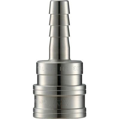 長堀工業:ナック クイックカップリング TL型 ステンレス製 ホース取付用 両路開放型 CTL12SH3 型式:CTL12SH3