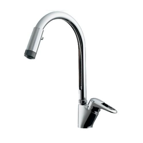 カクダイ:シングルレバー混合栓(シャワーつき) 型式:117-120