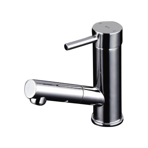 TOTO:台付シングル混合水栓(ホース付きタイプ) 型式:TLC32ERZ