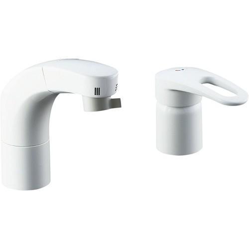 LIXIL(INAX):ホース引出式シングルレバー洗髪シャワー混合水栓 型式:SF-F800SYU