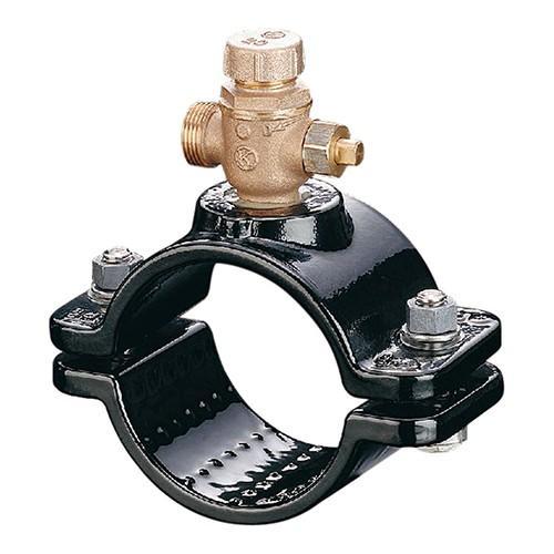 光明製作所:協会型 ボール式 サドル付分水栓 型式:SB-103-AS-100x50