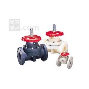 旭有機材工業:ダイヤフラムバルブ14型(ボディ材質:PVDF ダイヤフラム材質:PTFE) 型式:PVDF14型-25-PTFE