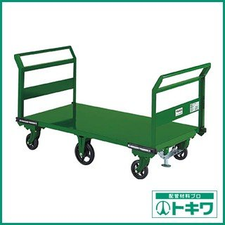 TRUSCO 鋼鉄製運搬車 両袖型 1400X750 鋳物6輪車 S付 SOHN-1LWS ( SOHN1LWS )