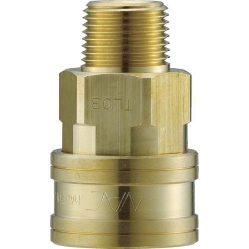 ナック クイックカップリング TL型 真鍮製 メネジ取付用 両路開放型 CTL16SM2 ( CTL16SM2 )