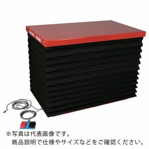 TRUSCO テーブルリフト500kg 油圧式 650X1200 蛇腹付 HDL-50-0612J ( HDL500612J )