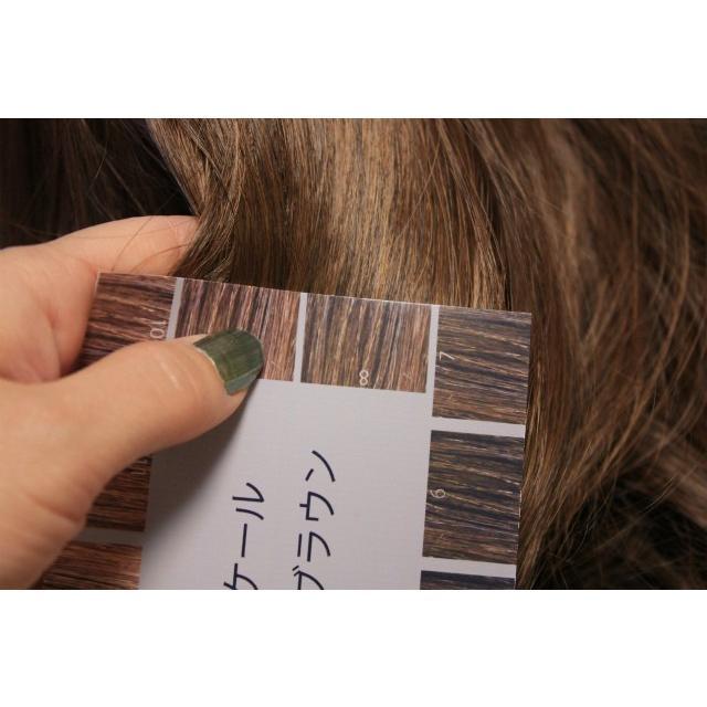 ヘアカラー明度スケール 10枚セット レベルスケール 名刺サイズ両面 3-15レベル 表面:ベーシックブラウン 裏面:ウォームブラウン|hair-color|05