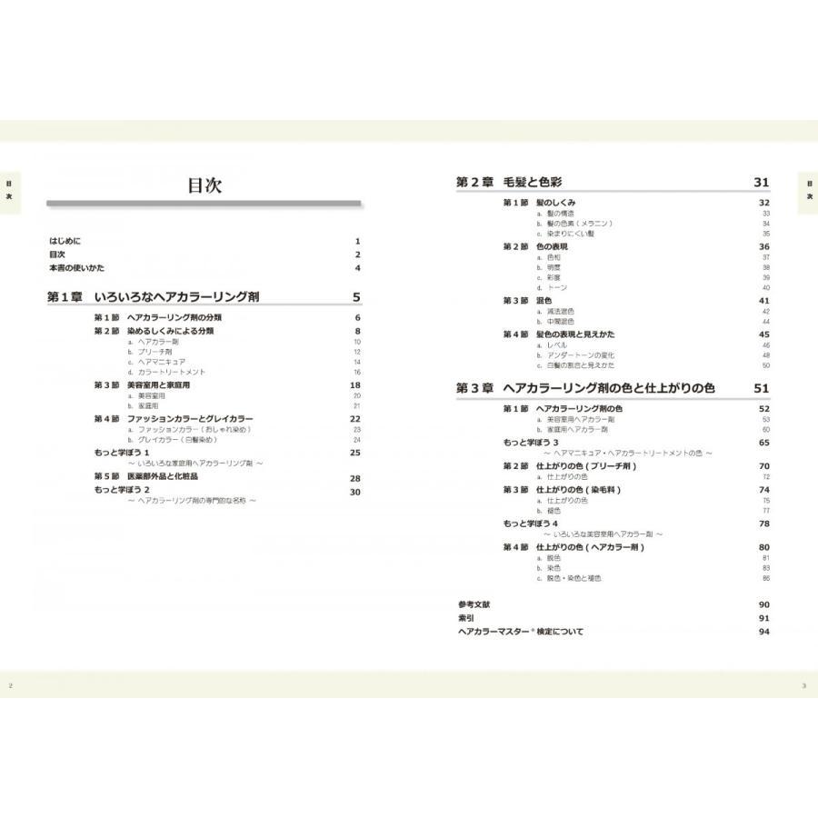 ヘアカラーマスター検定 公式テキスト3級・2級2冊セット ヘアカラーリングの製品学・色彩学・デザイン・心理学・似合わせの教科書 hair-color 06