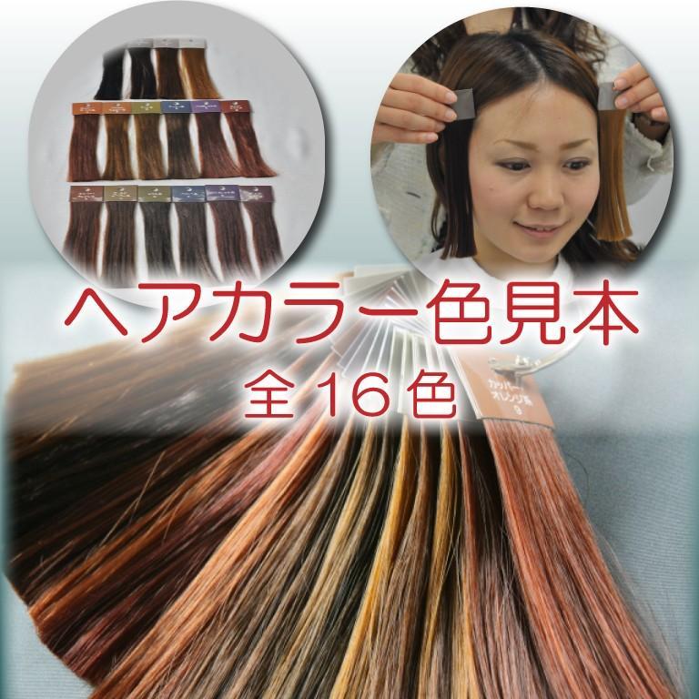 ヘアカラー色見本 16色セット|hair-color