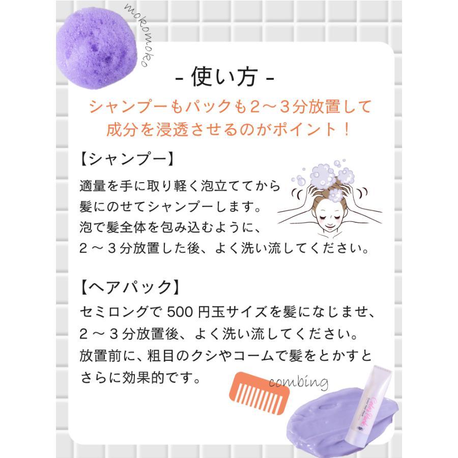 【美容室専売品】2点セット プロ仕様カラー専用シャンプー&ヘアパック セット(各250ml) hairmake-earth-store 10