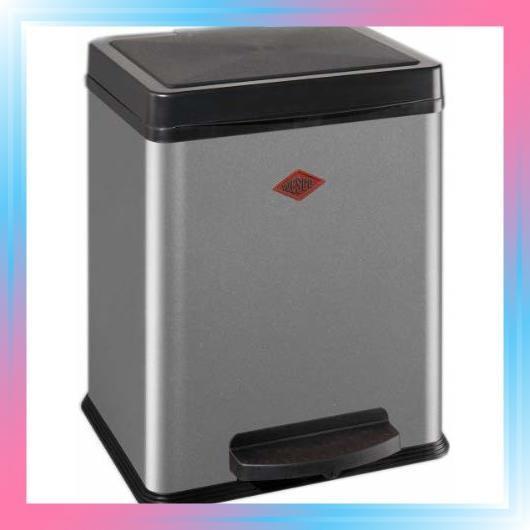 ペダル式ゴミ箱 メタリックシルバー サイズ:34×43×H28.5cm キ