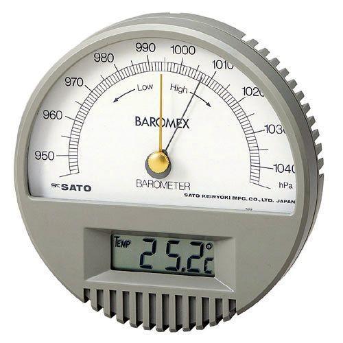 佐藤計量器 メーカートレーサビリティ校正付バロメックス気圧計(温度計付)No.7612-00 SATO
