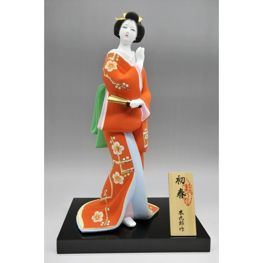博多人形 【初 春】  赤 最も売れている「女性物」!!様々な場面でご利用頂ける日本の人形です(人形ケース付) hakata-honpo