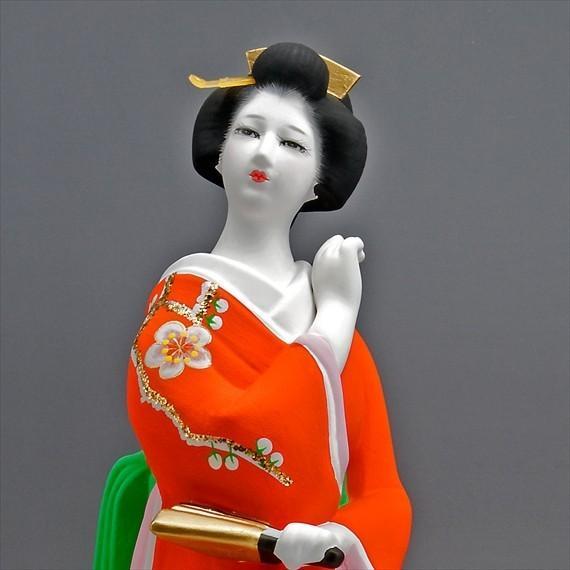 博多人形 【初 春】  赤 最も売れている「女性物」!!様々な場面でご利用頂ける日本の人形です(人形ケース付) hakata-honpo 04