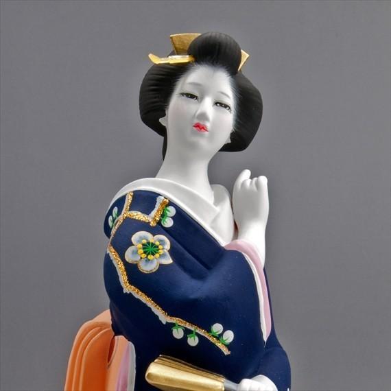 博多人形 【初 春】  青 最も売れている「女性物」!!様々な場面でご利用頂ける日本の人形です(人形ケース付)|hakata-honpo|04