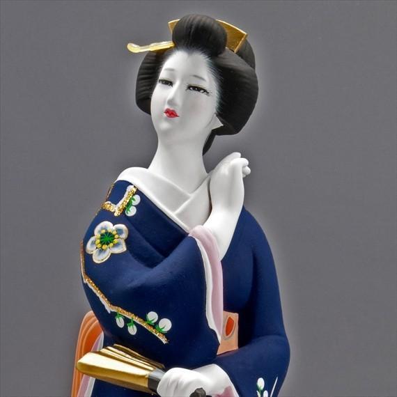 博多人形 【初 春】  青 最も売れている「女性物」!!様々な場面でご利用頂ける日本の人形です(人形ケース付)|hakata-honpo|05