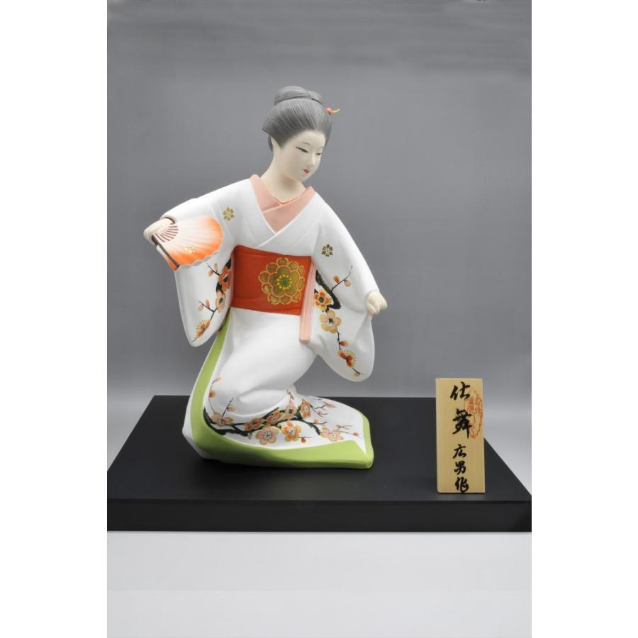 博多人形 【仕舞】 博多美人の舞姿は、目出度さを表現 hakata-honpo 02