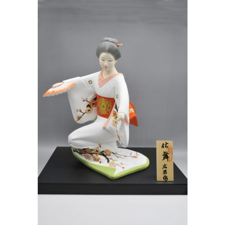 博多人形 【仕舞】 博多美人の舞姿は、目出度さを表現 hakata-honpo 03