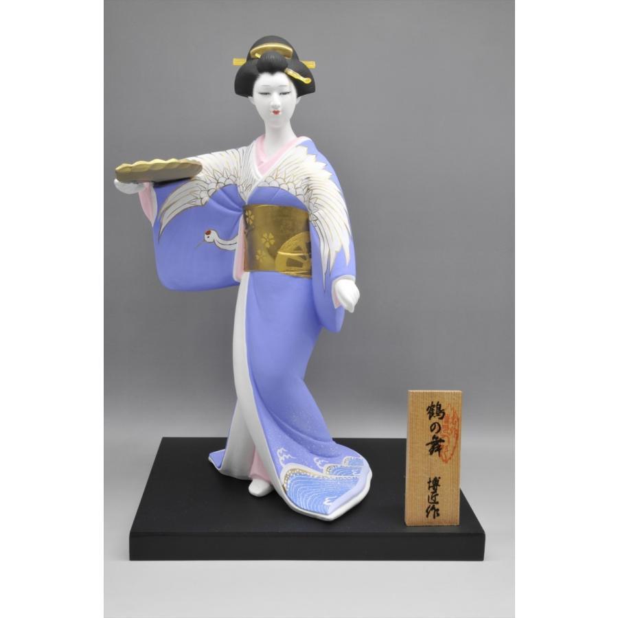博多人形 【鶴の舞】 日本女性の美を表現|hakata-honpo