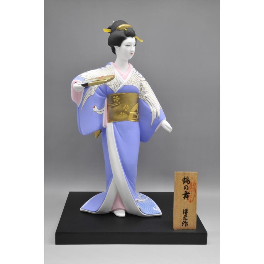 博多人形 【鶴の舞】 日本女性の美を表現|hakata-honpo|02