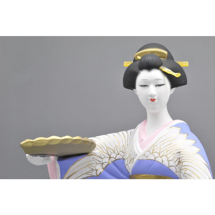 博多人形 【鶴の舞】 日本女性の美を表現|hakata-honpo|03