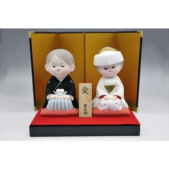 結婚 【花嫁・花婿 「愛」】お祝いの・・博多人形 |hakata-honpo