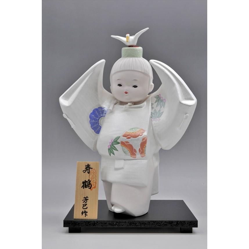 博多人形 【寿 鶴】  ご多幸を祈って「鶴」を舞う|hakata-honpo|03