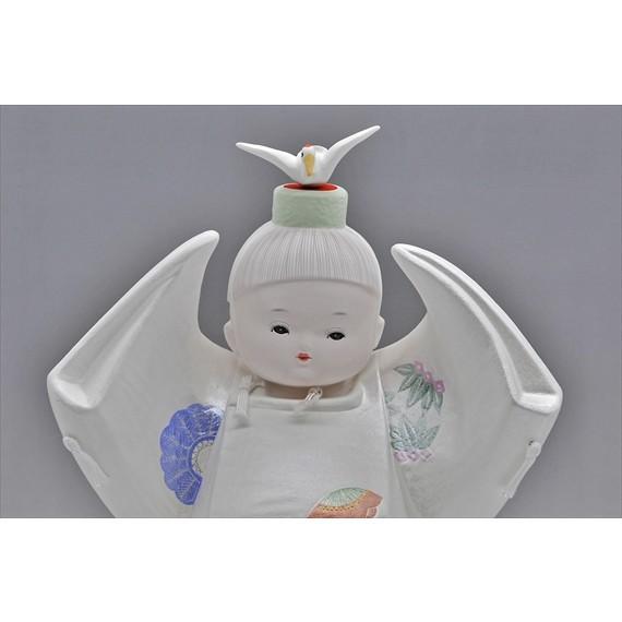 博多人形 【寿 鶴】  ご多幸を祈って「鶴」を舞う|hakata-honpo|04
