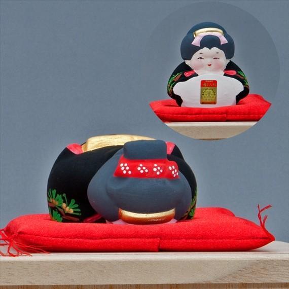 博多人形 【三福三 (さんぷくさん)お福さん】 三体のお茶目で可愛いお福さんにホッコリ〜 hakata-honpo 04