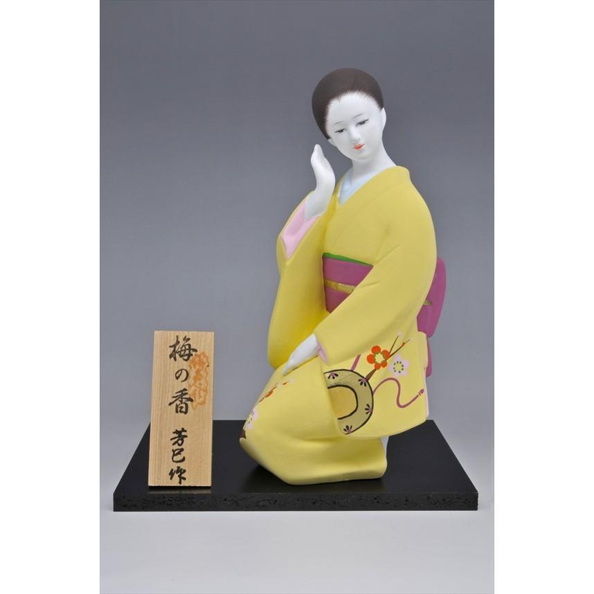 博多人形 【梅の香】 福岡の代表的な花「梅」の柄が、素敵な人形です。|hakata-honpo