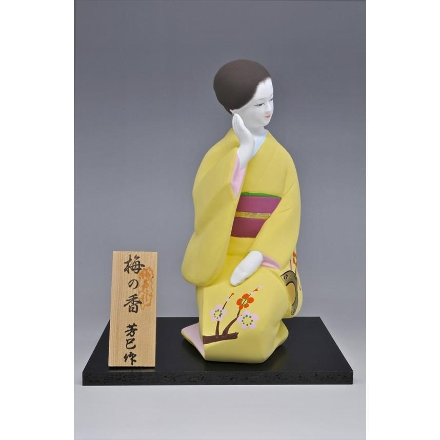 博多人形 【梅の香】 福岡の代表的な花「梅」の柄が、素敵な人形です。|hakata-honpo|02