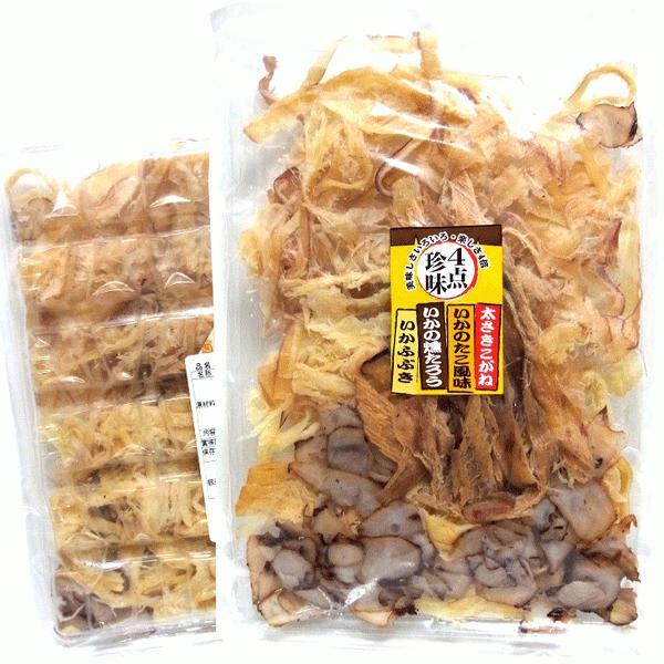 セール 1000円ポッキリ いか珍味 詰め合わせ)イカ4点珍味155g(ポイント10倍)ビール、日本酒に合います。おつまみ メール便 送料無料 ポイント消化 食品|hakodate-e-kombu