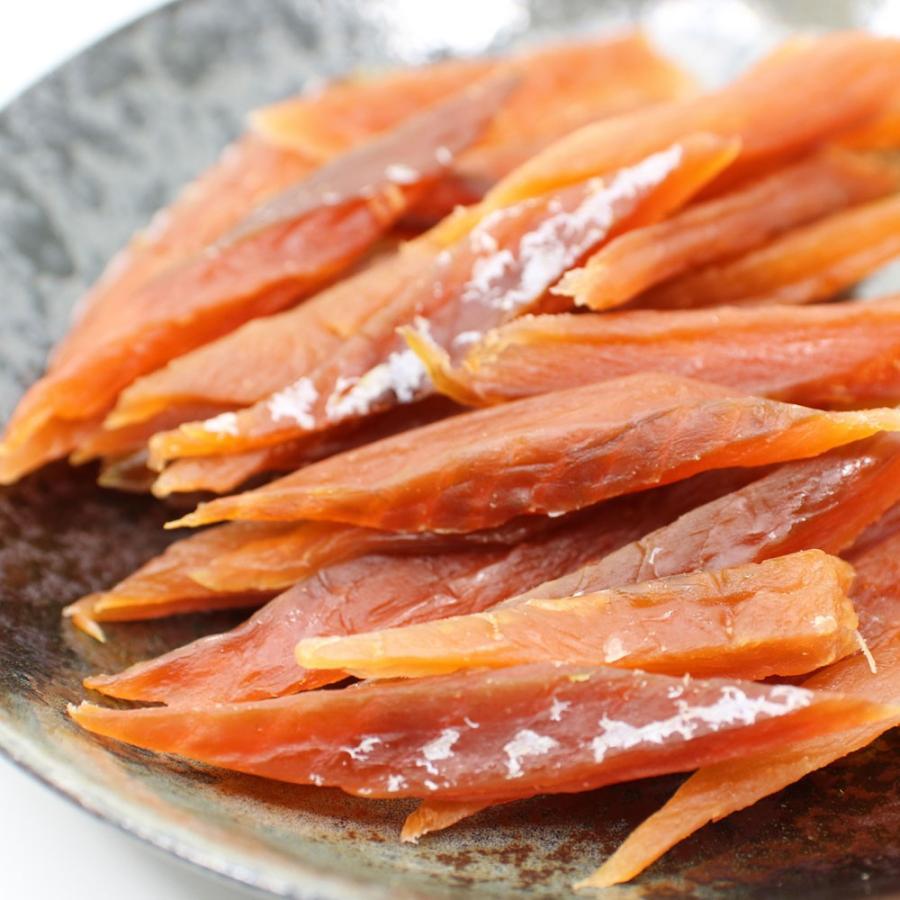 鮭とば やわらか さけとば 100g スーパーソフト 皮むき 骨なし 鮭とば スティック 歯が弱いかたにもおススメ 鮭トバ メール便 送料無料 ポイント消化 食品|hakodate-e-kombu|09