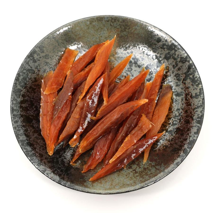 鮭とば やわらか さけとば 100g スーパーソフト 皮むき 骨なし 鮭とば スティック 歯が弱いかたにもおススメ 鮭トバ メール便 送料無料 ポイント消化 食品|hakodate-e-kombu|06