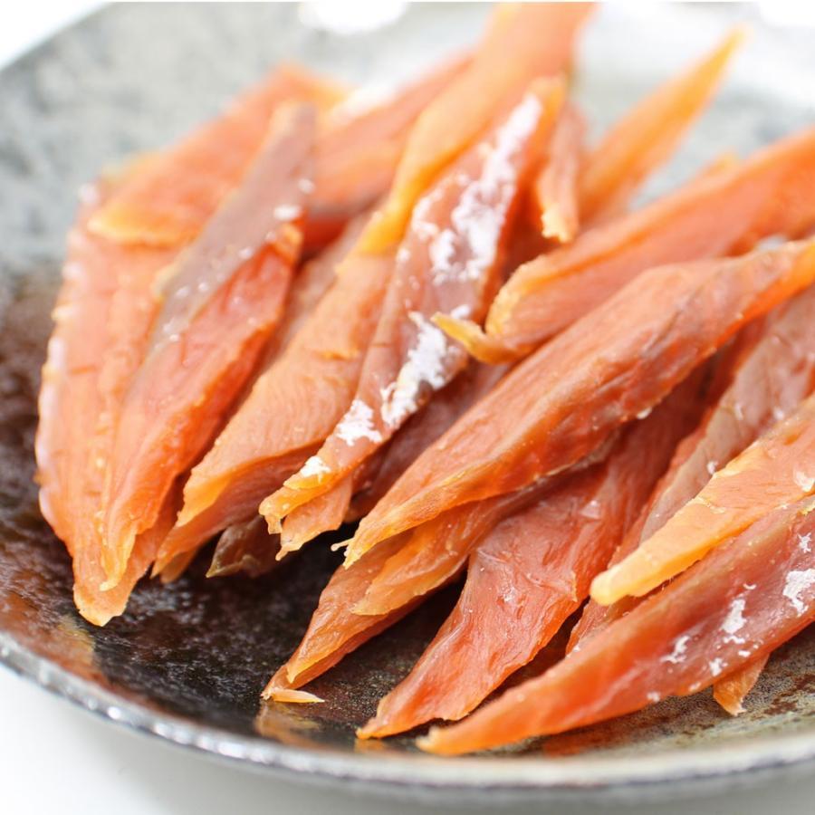 鮭とば やわらか さけとば 100g スーパーソフト 皮むき 骨なし 鮭とば スティック 歯が弱いかたにもおススメ 鮭トバ メール便 送料無料 ポイント消化 食品|hakodate-e-kombu|08