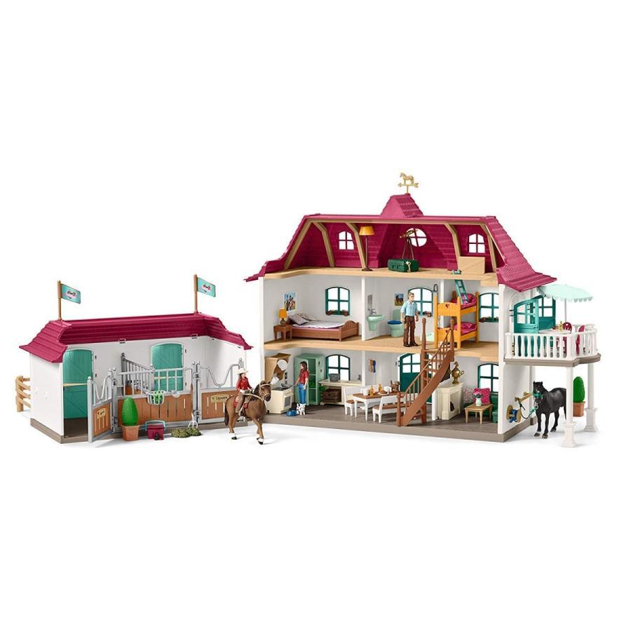 シュライヒ 42416 ホースクラブの大きなお家と馬小屋セット 動物フィギュア|hakoniwa