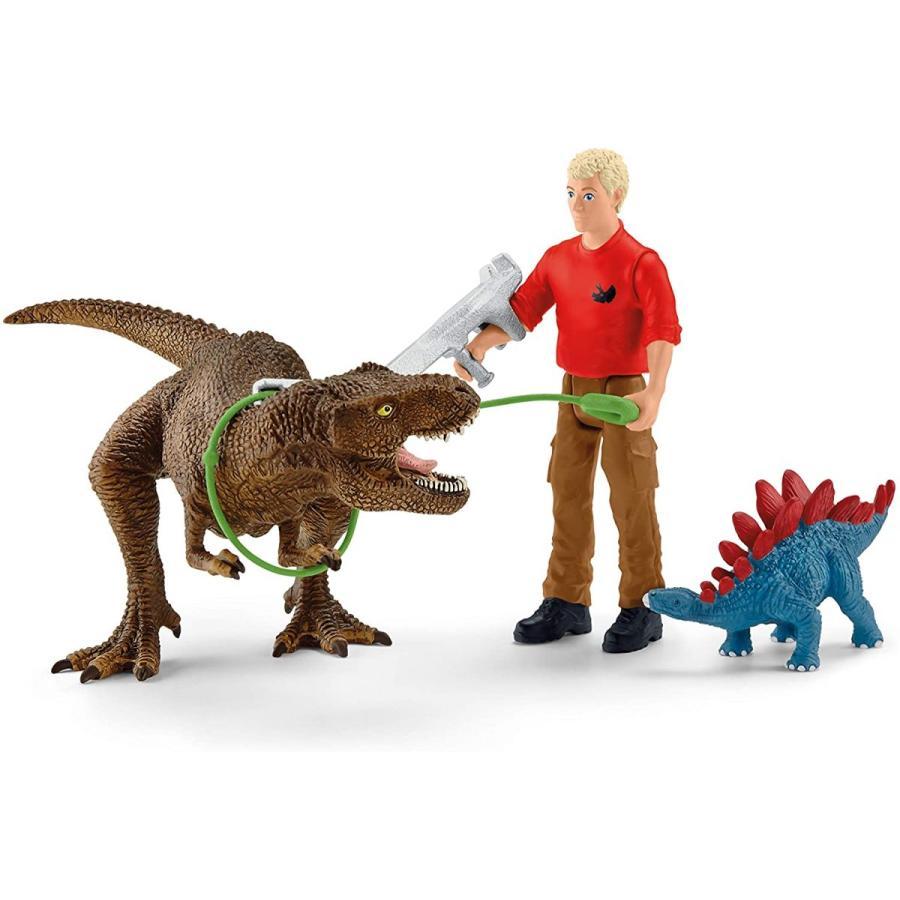 シュライヒ 41465 ティラノサウルス・レックスの攻撃 恐竜フィギュア hakoniwa