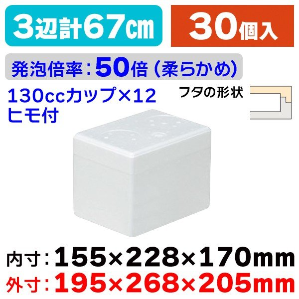 (発泡スチロールの箱)発泡ボックスICM-12/30個入(NK-283)