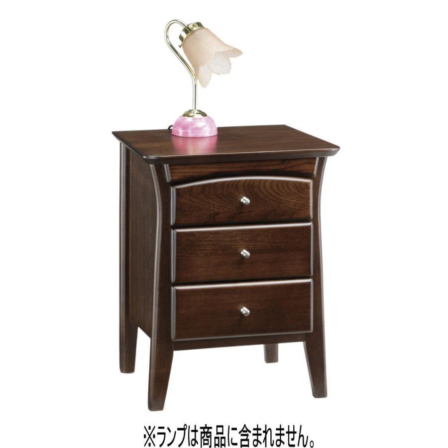 ナイトテーブル ベッドサイドテーブル ナイトチェスト 3段引出付 幅43cm 彩美 あやび 71