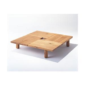 森のことば センターテーブルSN151T/161T 正方形100x100/120x120 高さ34.5 [正規品]飛騨産業 キツツキ ナラ材l
